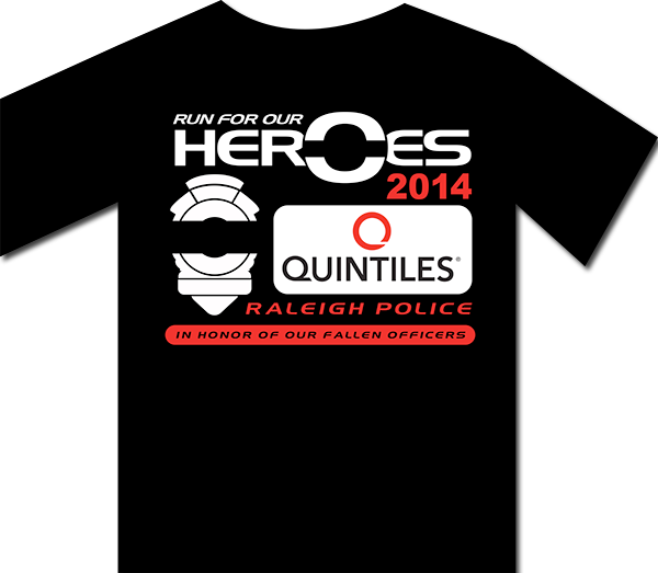 Run for Heros t-shirt 2014